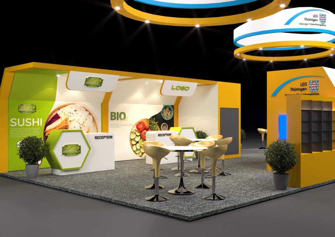 Thiết kế gian hàng triển lãm Bio Food