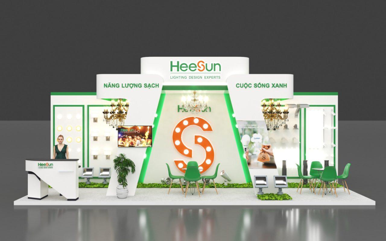 Thiết kế thi công gian hàng triển lãm công ty Heesun
