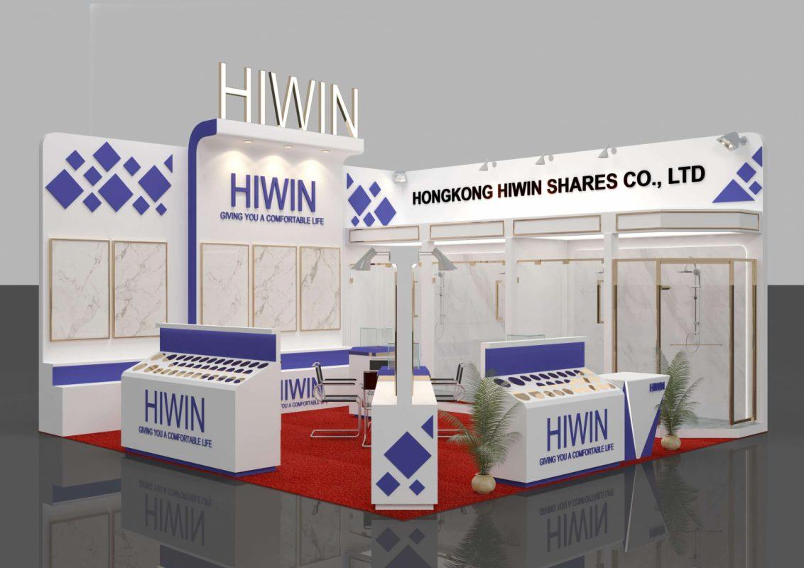 Thiết kế thi công gian hàng triển lãm công ty Hiwin