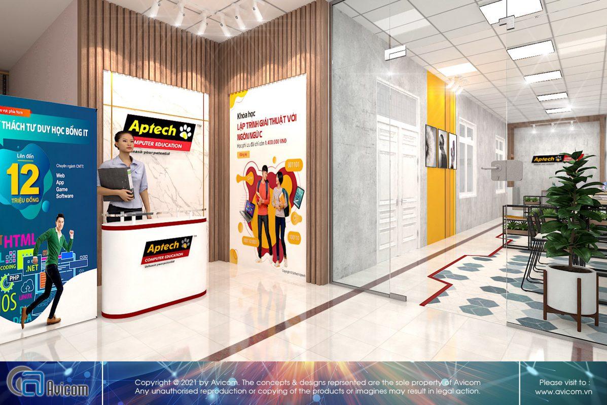Thiết kế thi công văn phòng Aptech
