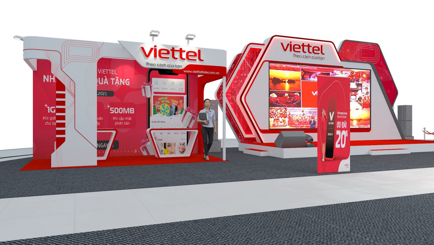 Thiết kế thi công sự kiện chào xuân Viettel