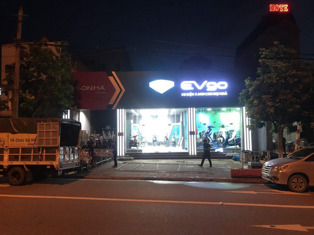 Thiết kế thi công xe điện Evgo của tập đoàn Sơn Hà